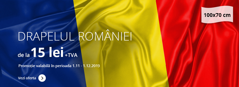 Drapelul României 100x70cm - prețuri începând cu 15 lei