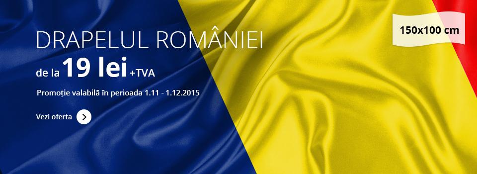 Drapelul României 150x100cm - prețuri începând cu 26 lei